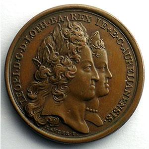 MAUGER   Naissance de Louis de Lorraine le 28 janvier 1704   bronze   35mm    SUP