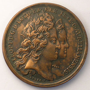 MAUGER   Naissance de Louis de Lorraine le 28 janvier 1704   bronze   35mm    TTB+