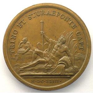 MAUGER   Prise de Trino et de Pontestura   bronze   41mm    SUP