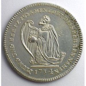 Médaille en argent   1734    TTB+/SUP