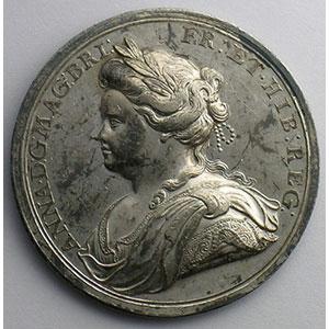 Médaille en argent   35mm   Paix d'Utrecht   1713    TTB+