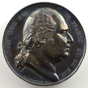 Médaille en argent  41mm   Chambre des Députés   1824   Corse    TTB+