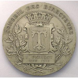 Médaille en argent   45mm   1913    SUP