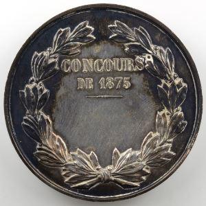 Médaille en argent   50mm   Société de Tir de Metz   Concours de 1875    SUP