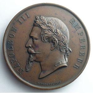 Médaille en bronze  68mm   Société immobilière du Quartier Neuf du Luxembourg   15 juin 1861    SUP