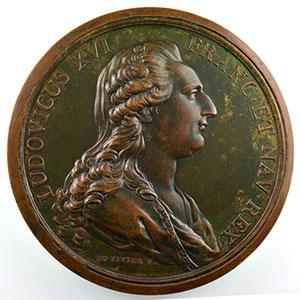 Médaille en bronze   74mm   Louis XVI et Marie-Antoinette   1781    SUP