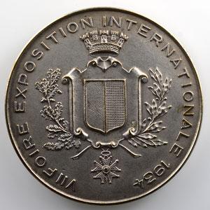 Médaille en bronze argenté  49mm   VII° foire exposition internationale   1934    SUP