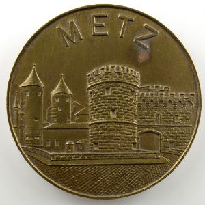 Médaille en laiton  49mm   XIV Foire Exposition Internationale 1949   Metz    TTB+