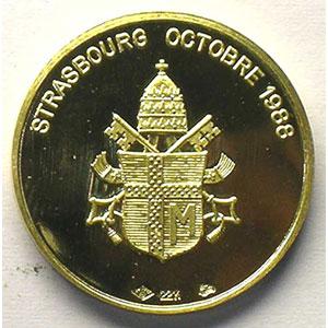 Médaille en or   21mm   octobre 1988    SUP