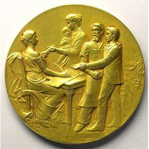 Médaille en or   40mm   1913    SUP