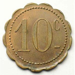 Mines de Batère - Cantine   10 Cent   Cu, R fest  22mm    TTB/TTB+