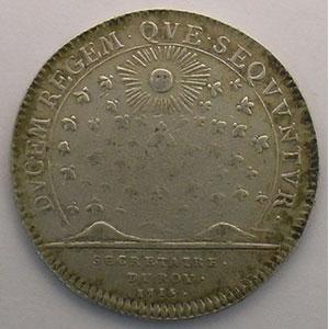 Photo numismatique  Monnaies Jetons & Médailles Jetons de l'Ancien Régime (Jetons royaux) Secrétaires du Roi jeton rond en argent   Louis XV   1715    TB+/TTB