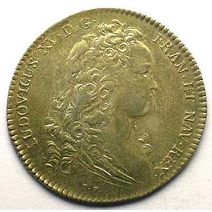 Photo numismatique  Monnaies Jetons & Médailles Jetons de l'Ancien Régime (Jetons royaux) Ordinaire des Guerres jeton rond en argent   Louis XV   1715    TTB