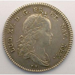 Photo numismatique  Monnaies Jetons & Médailles Jetons de l'Ancien Régime (Jetons royaux) Secrétaires du Roi jeton rond en argent   Louis XV   1715    TTB
