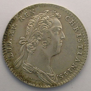 Photo numismatique  Monnaies Jetons & Médailles Jetons de l'Ancien Régime (Jetons royaux) Secrétaires du Roi jeton rond en argent   Louis XV   1724    TTB
