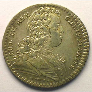 Photo numismatique  Monnaies Jetons & Médailles Jetons de l'Ancien Régime (Jetons royaux) Extraordinaire des Guerres jeton rond en argent   Louis XV   1728    TTB