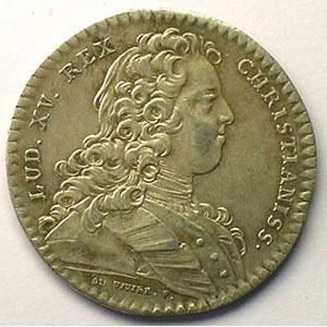 Photo numismatique  Monnaies Jetons & Médailles Jetons de l'Ancien Régime (Jetons royaux) Extraordinaire des Guerres jeton rond en argent   Louis XV   1729    TTB
