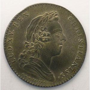 Photo numismatique  Monnaies Jetons & Médailles Jetons de l'Ancien Régime (Jetons royaux) Secrétaires du Roi jeton rond en argent   Louis XV   1731    SUP