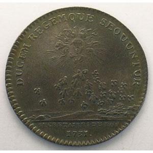 Photo numismatique  Monnaies Jetons & Médailles Jetons de l'Ancien Régime (Jetons royaux) Secrétaires du Roi jeton rond en argent   Louis XV   1731    TTB+/SUP