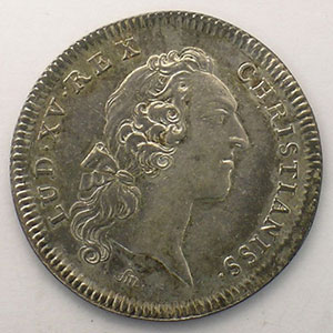 Photo numismatique  Monnaies Jetons & Médailles Jetons de l'Ancien Régime (Jetons royaux) Secrétaires du Roi jeton rond en argent   Louis XV   1731    TTB+