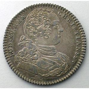 Photo numismatique  Monnaies Jetons & Médailles Jetons de l'Ancien Régime (Jetons royaux) Ordinaire des Guerres jeton rond en argent   Louis XV   1733    TTB/TTB+