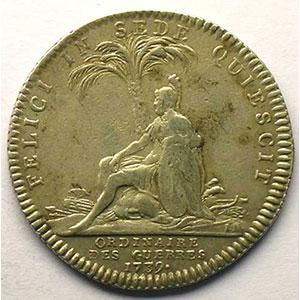 Photo numismatique  Monnaies Jetons & Médailles Jetons de l'Ancien Régime (Jetons royaux) Ordinaire des Guerres jeton rond en argent   Louis XV   1739    TTB