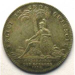 Photo numismatique  Monnaies Jetons & Médailles Jetons de l'Ancien Régime (Jetons royaux) Ordinaire des Guerres jeton rond en argent   Louis XV   1739    TTB+