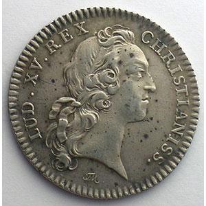 Photo numismatique  Monnaies Jetons & Médailles Jetons de l'Ancien Régime (Jetons royaux) Ordinaire des Guerres jeton rond en argent   Louis XV   1741    TTB