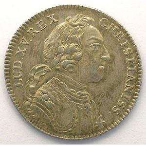 Photo numismatique  Monnaies Jetons & Médailles Jetons de l'Ancien Régime (Jetons royaux) Extraordinaire des Guerres jeton rond en argent   Louis XV   1745    TTB