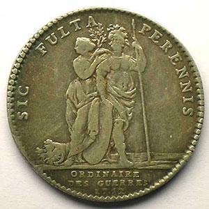 Photo numismatique  Monnaies Jetons & Médailles Jetons de l'Ancien Régime (Jetons royaux) Ordinaire des Guerres jeton rond en argent   Louis XV   1752    TTB