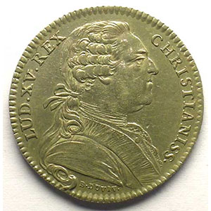 Photo numismatique  Monnaies Jetons & Médailles Jetons de l'Ancien Régime (Jetons royaux) Extraordinaire des Guerres jeton rond en argent   Louis XV   1769    SUP