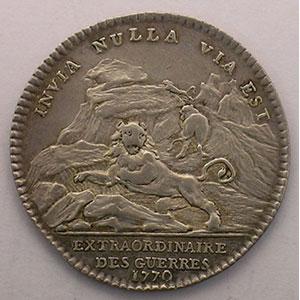 Photo numismatique  Monnaies Jetons & Médailles Jetons de l'Ancien Régime (Jetons royaux) Extraordinaire des Guerres jeton rond en argent   Louis XV   1770    TTB/TTB+