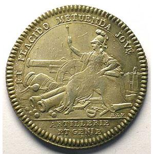 Photo numismatique  Monnaies Jetons & Médailles Jetons de l'Ancien Régime (Jetons royaux) Artillerie et Génie jeton rond en argent   Louis XVI    TTB+