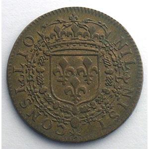Photo numismatique  Monnaies Jetons & Médailles Jetons de l'Ancien Régime (Jetons royaux) Conseil du Roi Jeton rond en cuivre module 25mm   Louis XIV    SUP