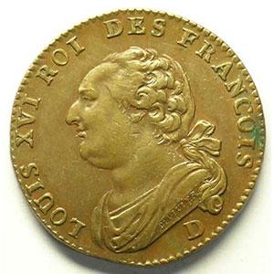 Photo numismatique  Monnaies Monnaies de la révolution G.15   12 Deniers François 1792 D  (Lyon)    PCGS-AU58    SUP