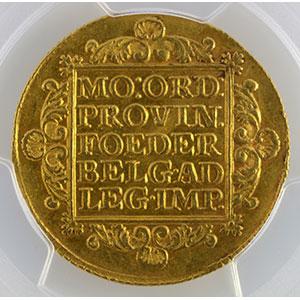 Photo numismatique  Monnaies Monnaies étrangères Pays-Bas Hollande 2 Ducats   1753    PCGS-MS62    SUP/FDC