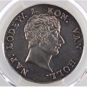 Photo numismatique  Monnaies Monnaies étrangères Pays-Bas Louis-Napoléon  (1806-1810) 50 Stuivers   1808  Utrecht    PCGS-MS62    SUP/FDC
