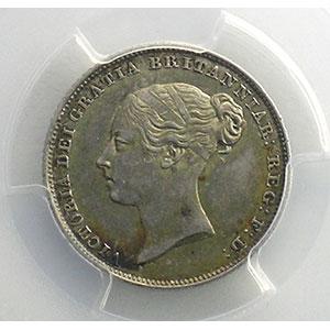 Photo numismatique  Monnaies Monnaies étrangères Grande-Bretagne Victoria   (1837-1901) Six pence   1851   PCGS-MS63    SUP/FDC