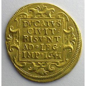 Photo numismatique  Monnaies Monnaies féodales et provinciales Franche-Comté Ville de Besançon Ducat   1641    TTB+