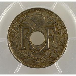 Photo numismatique  Monnaies Monnaies françaises 1793-1959 5 Centimes G.171   points avant et après la date .1938. étoile entre R et F    PCGS-AU50    TTB/TTB+