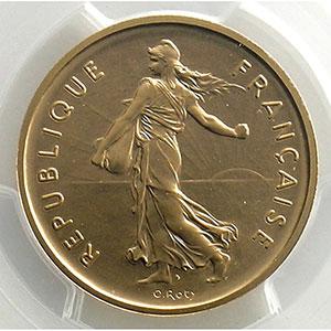 Photo numismatique  Monnaies Monnaies françaises 1959-2001 Piéforts V° République G.771P   5 Francs   1970 or    PCGS-SP68    FDC