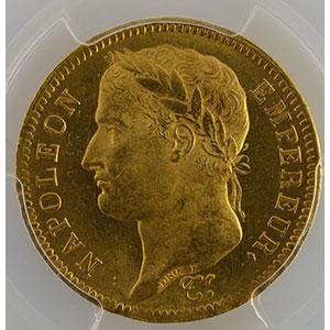 Photo numismatique  Monnaies Monnaies françaises en or 40 Francs G.1084   40 Francs Napoléon I 1811 A  (Paris)    PCGS-MS64+    pr.FDC
