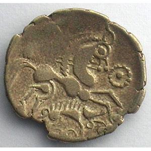Photo numismatique  Monnaies Monnaies gauloises Aulerques Eburovices Hémistatère d'or bas au sanglier    TB+/TTB
