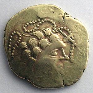 Photo numismatique  Monnaies Monnaies gauloises Namnètes Statère d'électrum au génie hippophore    TB+/TTB