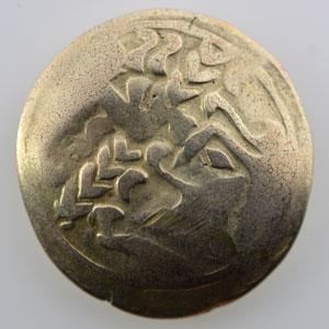 Photo numismatique  Monnaies Monnaies gauloises Leuques Statère d'or à la lyre   (150-50 av. JC)    TB