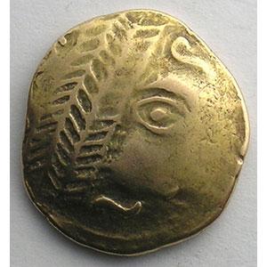 Photo numismatique  Monnaies Monnaies gauloises Leuques Statère d'or   (milieu du 2° siècle av. JC)    TB+