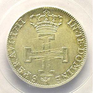 Photo numismatique  Monnaies Monnaies lorraines Duché de Lorraine Léopold I   (1690-1729) Teston 1711 flan neuf    PCGS-AU58    SUP