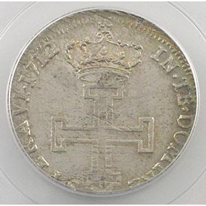 Photo numismatique  Monnaies Monnaies lorraines Duché de Lorraine Léopold I   (1690-1729) Teston 1712   flan neuf   PCGS-MS62    SUP/FDC