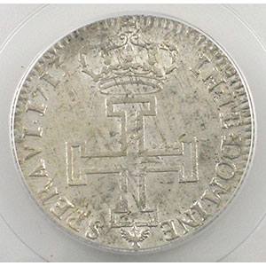 Photo numismatique  Monnaies Monnaies lorraines Duché de Lorraine Léopold I   (1690-1729) Teston 1713   flan neuf   PCGS-MS62    SUP/FDC