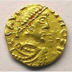 Photo numismatique  Monnaies Monnaies mérovingiennes Chalon-sur-Saône Tiers de sou d'or    TTB